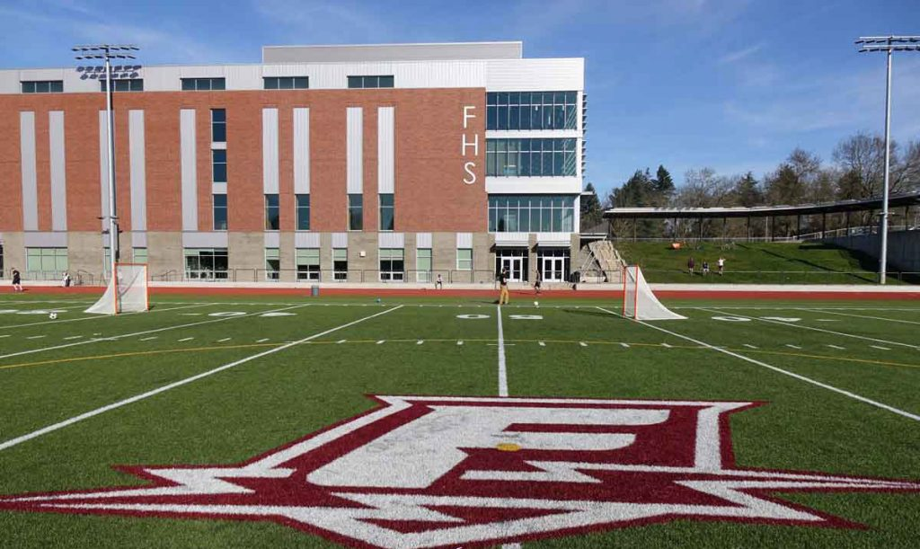Franklin logo on sports field